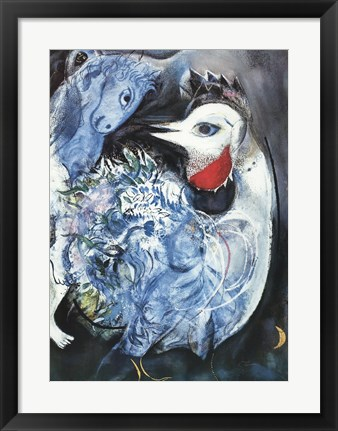 Framed Feathers in Bloom Print