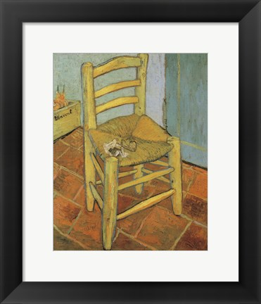 Framed Van Gogh's Chair and Pipe, c.1888 Print
