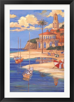 Framed Beach Club II Print