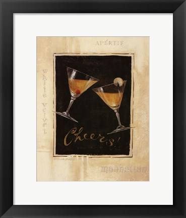 Framed Cheers! I - Mini Print