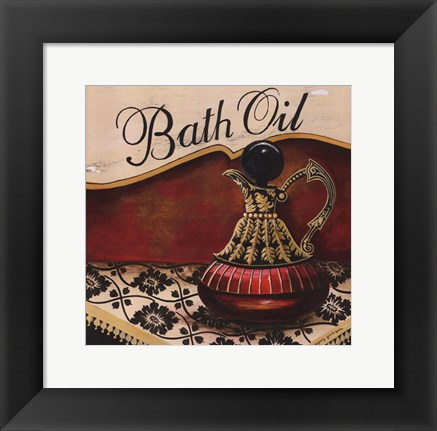 Framed Bath Oil - Mini Print