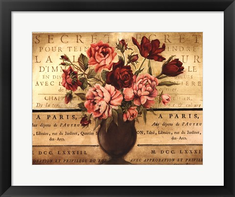 Framed Paris Rose I Print