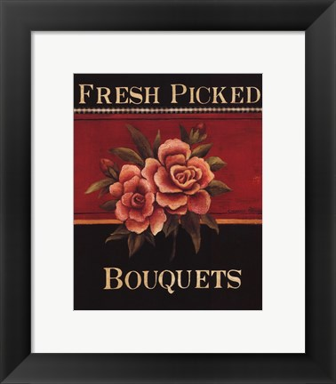 Framed Fresh Picked Bouquets - Mini Print