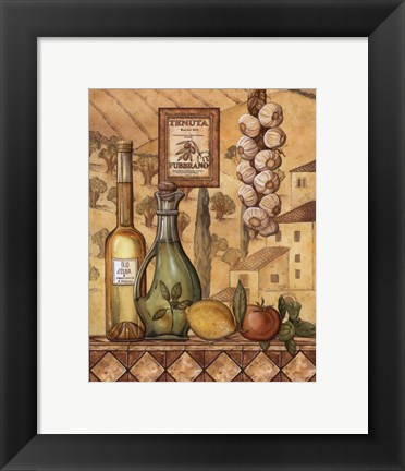 Framed Flavors Of Tuscany IV - Mini Print