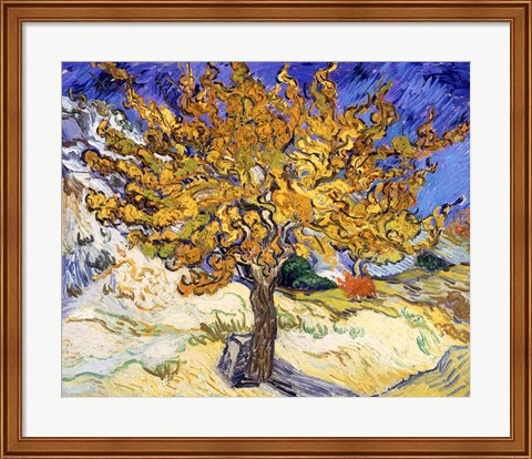 Framed Mulberry Tree in Autumn, c.1889 Print