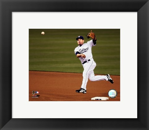 Framed Marcus Giles - 2007 Fielding Action Print