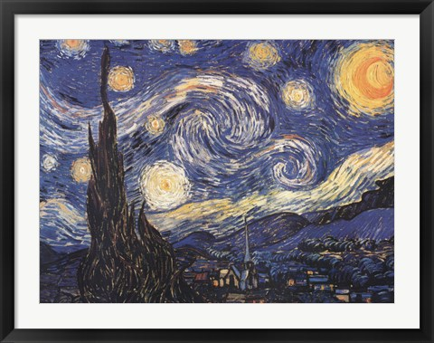 Framed Starry Night Print