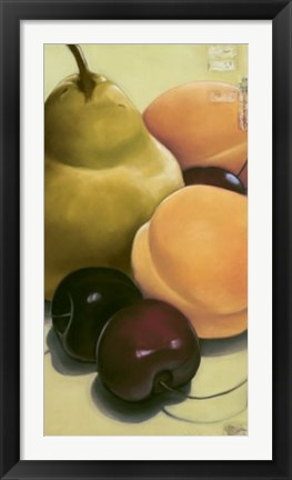 Framed Pear, Apricots & Cherries Print