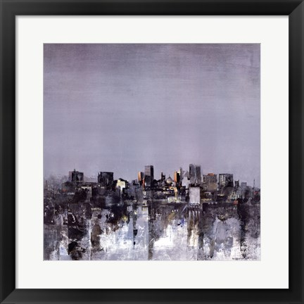Framed City Trance II Print