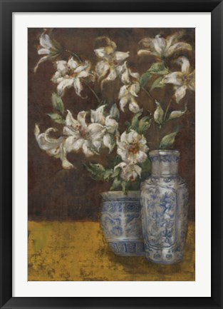 Framed Delft Lilies Print