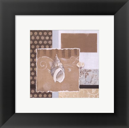 Framed Shell Collage II Print