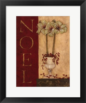 Framed Noel - with flowers Print