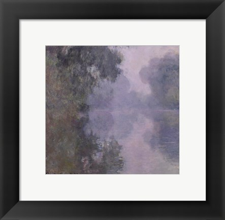 Framed Seine at Giverny, Morning Mists, 1897 Print