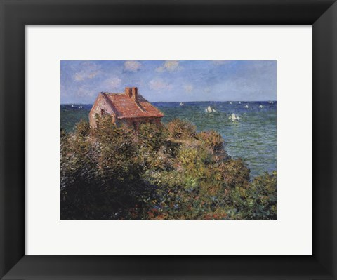 Framed Fisherman's Cottage on the Cliffs at Varengeville, 1882 Print