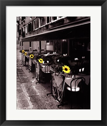 Framed Sunflower Cafe Print