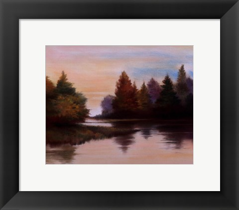 Framed Pine Lake I Print