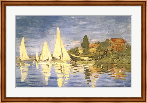 Framed Regatta at Argenteuil Print
