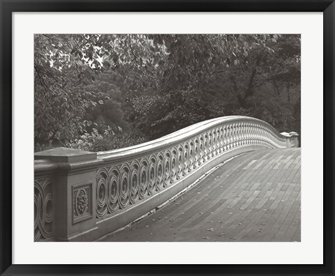 Framed Central Park Bridge Print