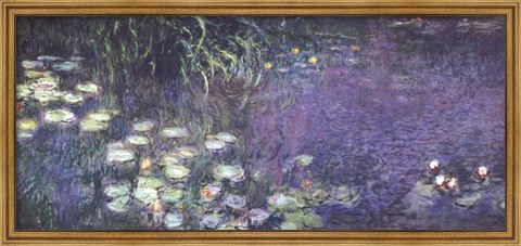 Framed Water Lilies: Morning Print