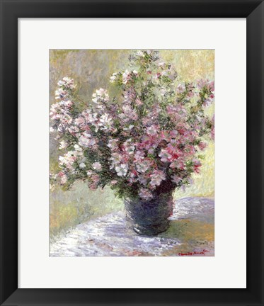 Framed Vase of Flowers Print