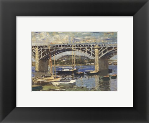 Framed Bridge at Argenteuil (bridge center) Print