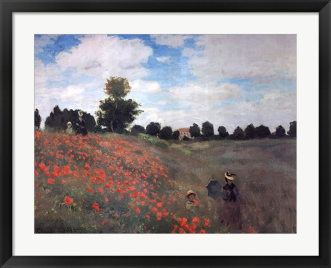 Framed Les Coquelicots Print