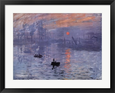 Framed Impression, Sunrise, c.1872 (blue) Print