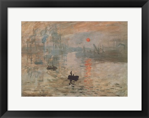 Framed Impression, Sunrise, c.1872 (green) Print