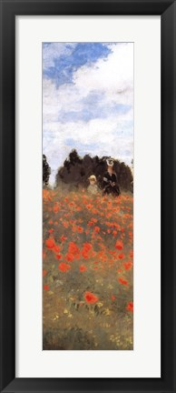 Framed Field of Poppies (panel) Print