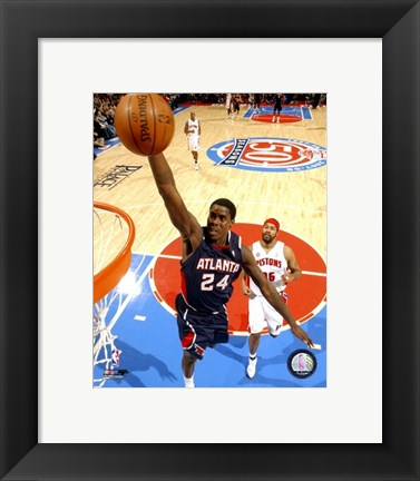 Framed Marvin Williams 2007-08 Action Print