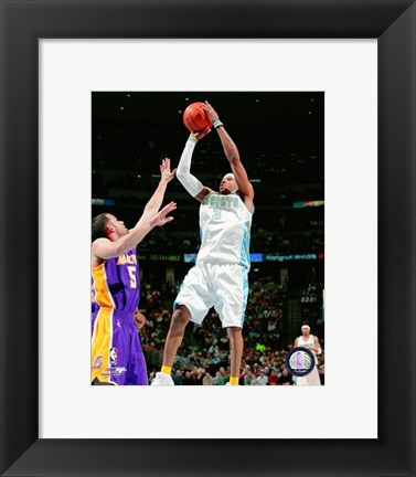 Framed Allen Iverson 2007-08 Action Shooting Hoops Print
