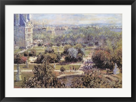 Framed View of Tuileries Gardens Print