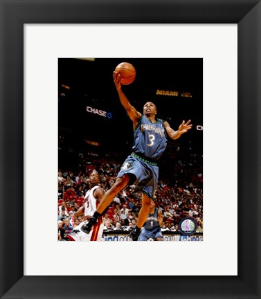 Framed Sebastian Telfair 2007-08 Action Print
