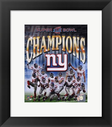 Framed New York Giants 2007 Super Bowl XLII Champions Composite Print