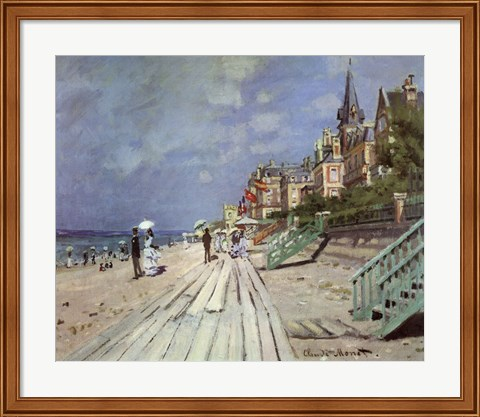 Framed Beach at Trouville, c.1870 Print