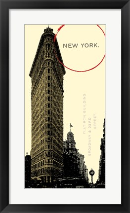 Framed Graphic New York Neutral Print