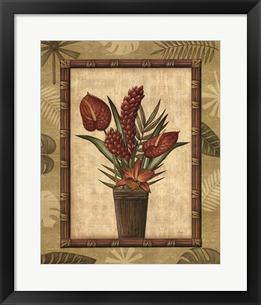 Framed Paradisio Bouquet I Print