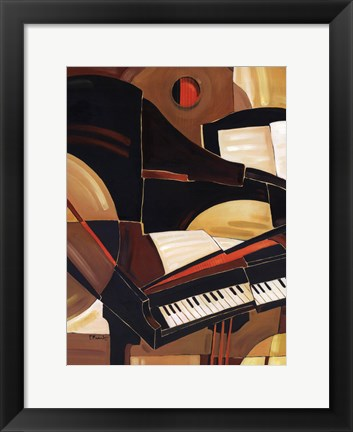 Framed Abstract Piano - mini Print