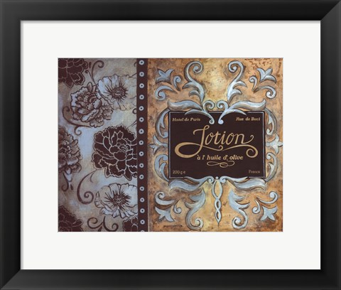 Framed Lotion de Paris Print