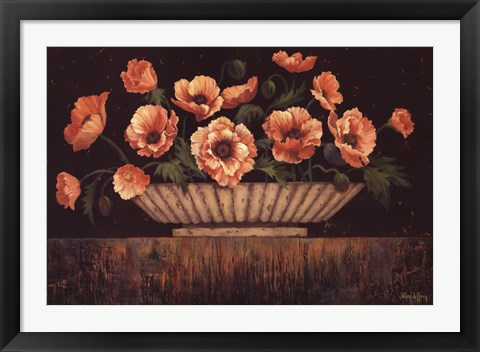 Framed Elegant Poppies Print