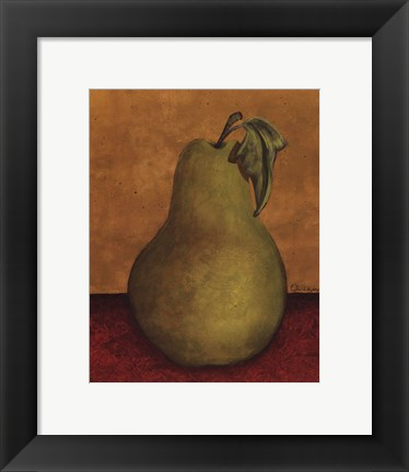 Framed Pear - mini Print