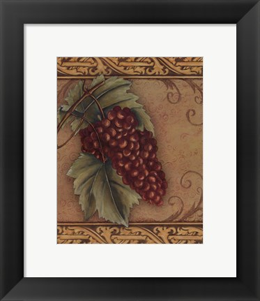 Framed Grape Tapestry I - mini Print
