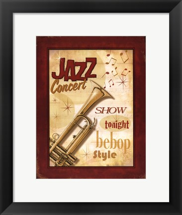 Framed New Orleans Jazz I Print