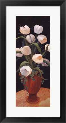 Framed Tulips by Night - mini Print
