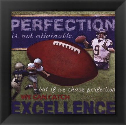 Framed Perfection - Football Print