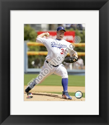 Framed Brad Penny 2008 Pitching Action Print