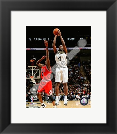 Framed Michael Finley 2007-08 Action Print