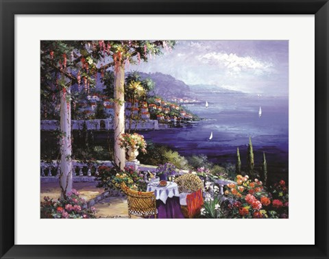 Framed Jewel of the Riviera Print