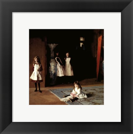 Framed Daughters of Edward Darley Boit, 1882 Print