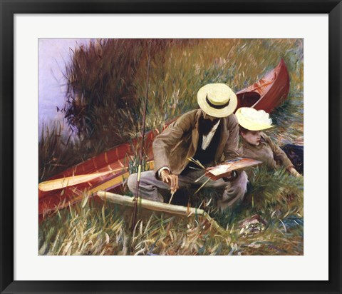 Framed Out-of-Doors Study (formerly known as Paul Helleu Sketching with His Wife) Print